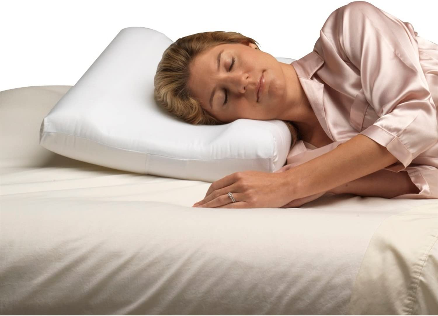 PCP Carved Foam Cervical Bombing new work 70% OFF Outlet White Pillow