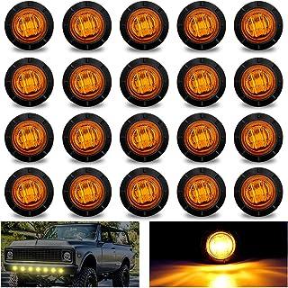 """20 szt. Okrągłe lampki LED bursztyn, Biqing 3/4"""" LED przednie tylne boczne kierunkowskazy światło tylne 10 V-30 V wodoodpo..."""