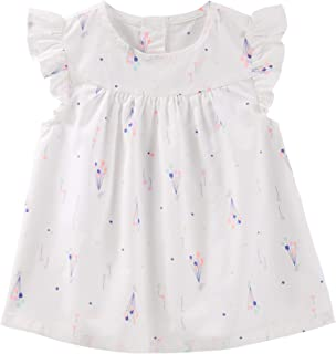 OshKosh B'gosh Girl's Ballon Poplin Top Size, 6-9 m - White
