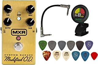 MXR M77 Custom Badass Modified Overdrive Guitar Pedal w/ Tuner, Patch Cable, and Pick Pack