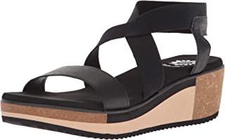 Yellow Box Women's Janalee Wedge Sandal, Black, 9 M US