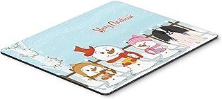 Caroline's Treasures Merry Christmas Pekingese Black White Mouse Pad, Multicolor, 7.75x9.25 (BB2436MP)