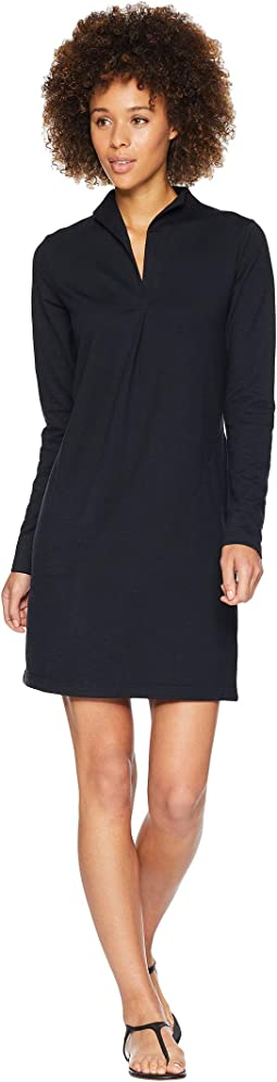 Long Sleeve Elementerry Mock V Dress