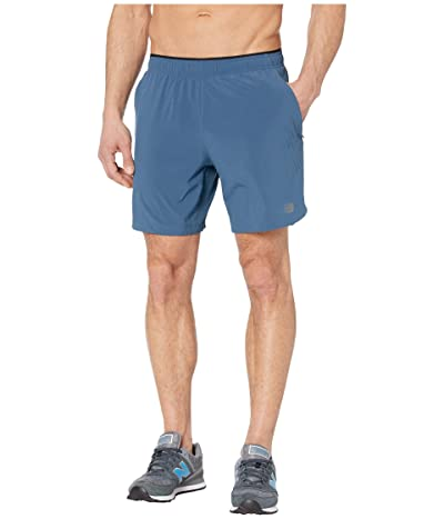 New Balance Fortitech 7 2-in-1 Shorts (Stone Blue) Men