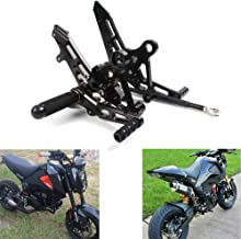 MZS Adjustable Rearsets Footrests CNC for Honda Grom MSX125 2013 2014 2015 2016 2017 Black