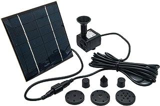 OCGIG Solar Powered Fountain Water Pump 8 Piece Nozzle for Bird Bath Solar Panel Kit Garden Outdoor 1.2W 190L/H