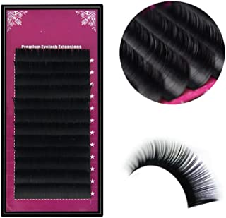 All Size B/C/D/J curl 1 trays,Individual natural Mink Eyelash Extension. Artificial Fake False Eyelashes,D,0.03mm,8 to 15 mixed length