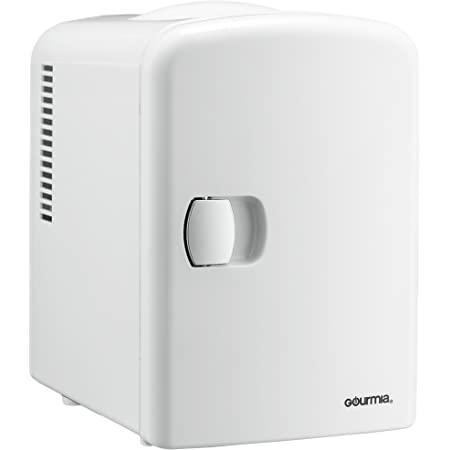 Gourmia GMF600 Thermoelectric Mini Fridge Cooler and Warmer - 4 Liter/ 6 Can - For Home,Office, Car, Dorm or Boat - Compact & Portable - AC & DC Power Cords - White