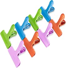 Croc Jaws® 8 Pack Bag Sealing Clips Stainless Steel Large 76 mm Wide 4 Colours Heavy-Duty chip Clips Airtight Seal. Multip...