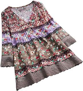 26795bddc5707 YOcheerful Women Shirt Long Sleeve Tunic Tops Casual Plus Size T-Shirt  Blouse Tee Polo