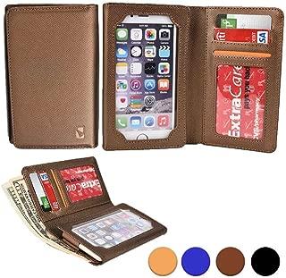 Cooper Infinite Wallet Smartphone Case for Lava Iris Alfa / X1 Grand / X8, Icon   Canvas Cover, Screen Protector, Card ID Holder (Gold)