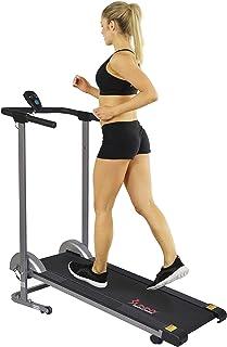 Sunny Health & Fitness Unisex Adult SF-T1407M Manual Walking Treadmill - Grey, One Size