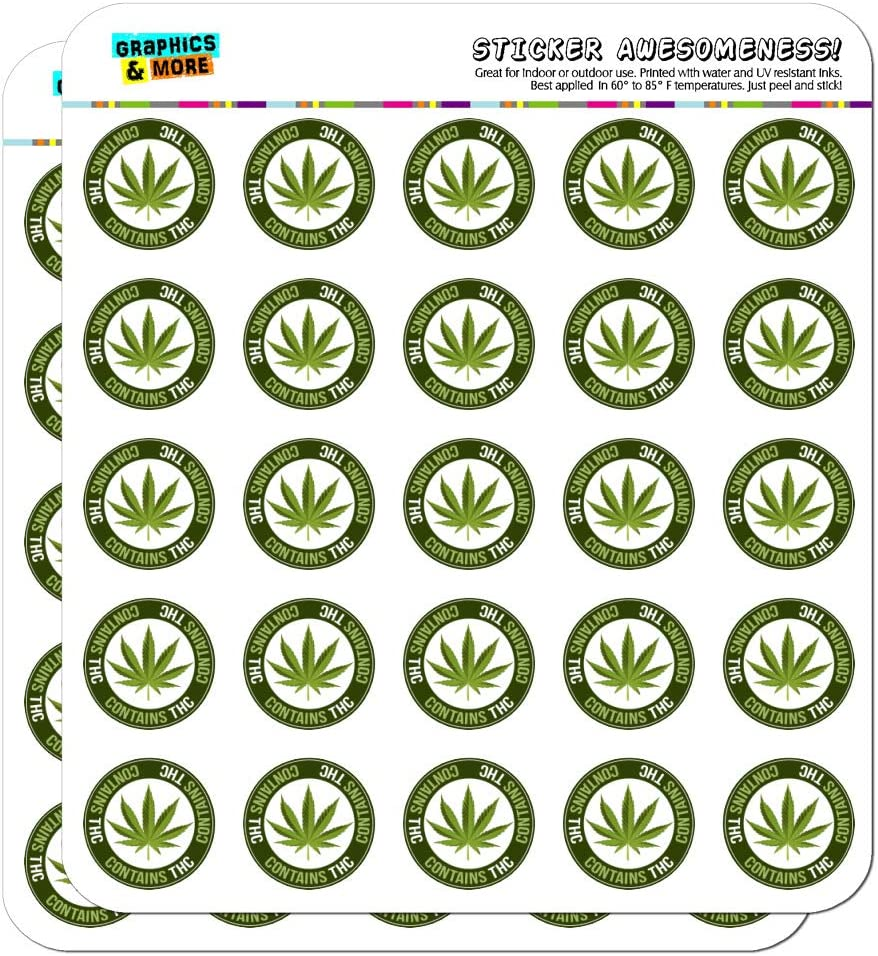Contains THC Cannabis Marijuana Pot Planner Calendar Scrapbooking Crafting Stickers