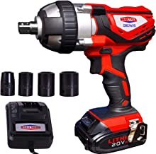 """Cordless Impact Wrench 1/2"""" Max Torque 300N.m Compact Battery Impact Wrench with.."""