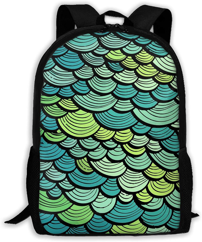 Adult Shoulder Bag Marine Fish Scales Multipurpose 3D Printing
