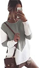 Tomsweet Autumn Winter Women Loose Knitted Round Neck Long Sleeve Sweater Oversized Jumper Pullover Sweatshirt Tops Blouse