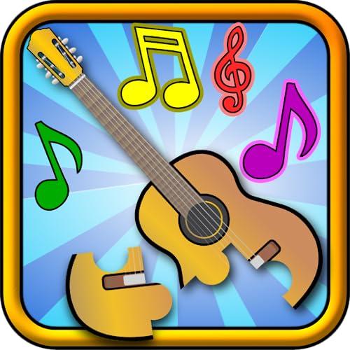 Kinder Musical Puzzle - pädagogische Form und passende junge Kinder Spiel für Kleinkinder und Kindergartenkinder pre