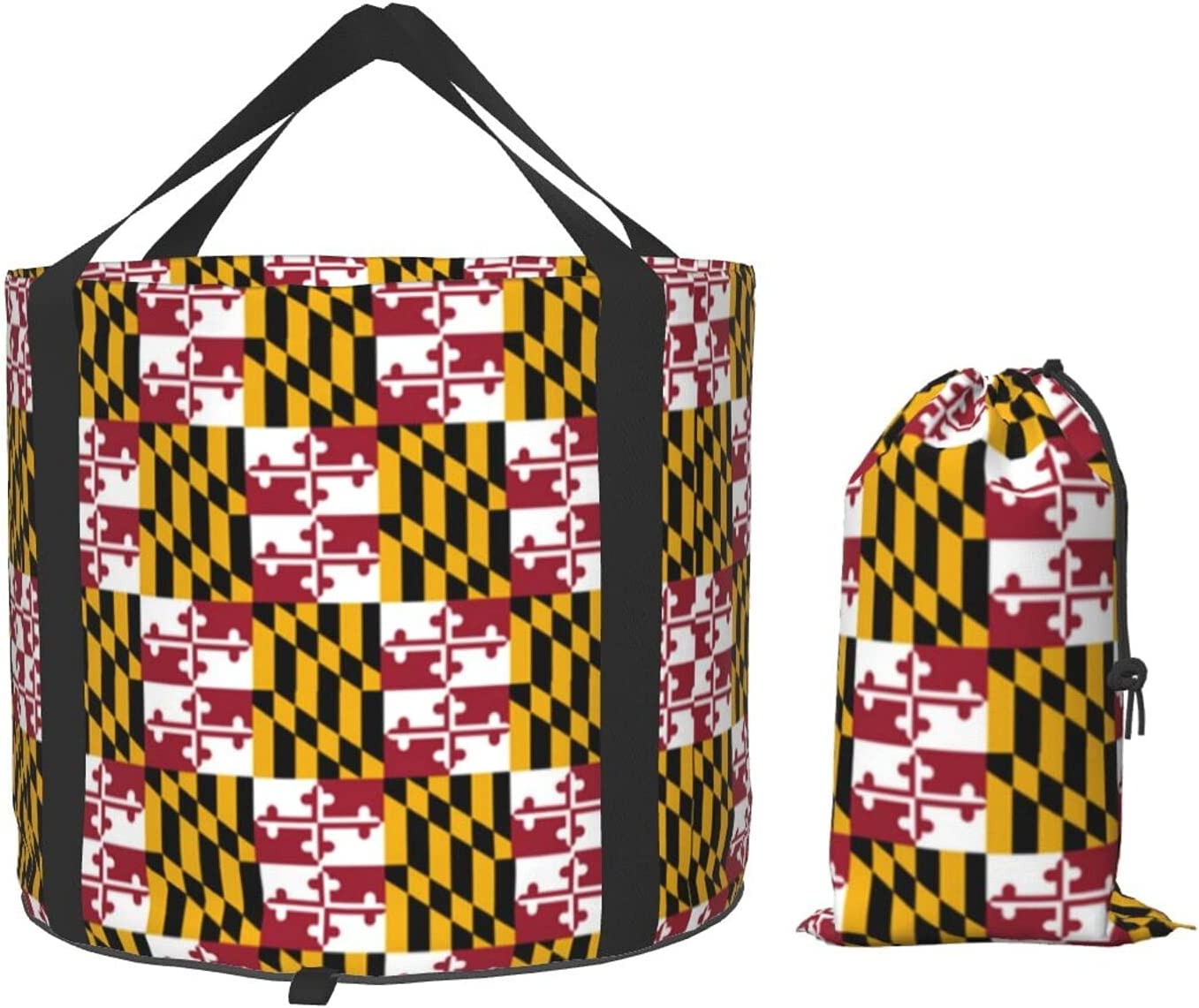 Ranking TOP4 Multifunctional Portable Excellent Collapsible Bucket Maryland Flag Pride