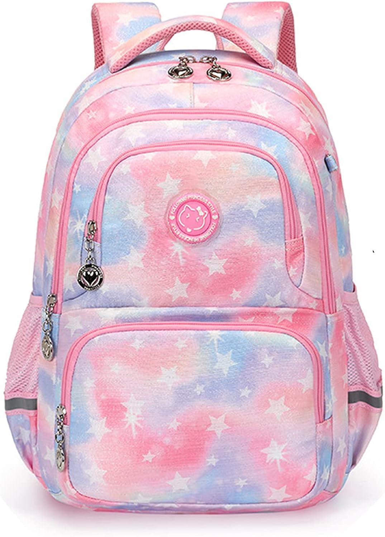 Mochilas para niños, niñas, adolescentes, mochila escolar de gran capacidad, mochila con estampado de estrellas para estudiantes de primaria