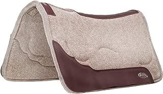 Weaver المصنوعة من الجلد مكيف الحوافي ذو طبقات وسادة سرج من اللباد مع حشو من الجل
