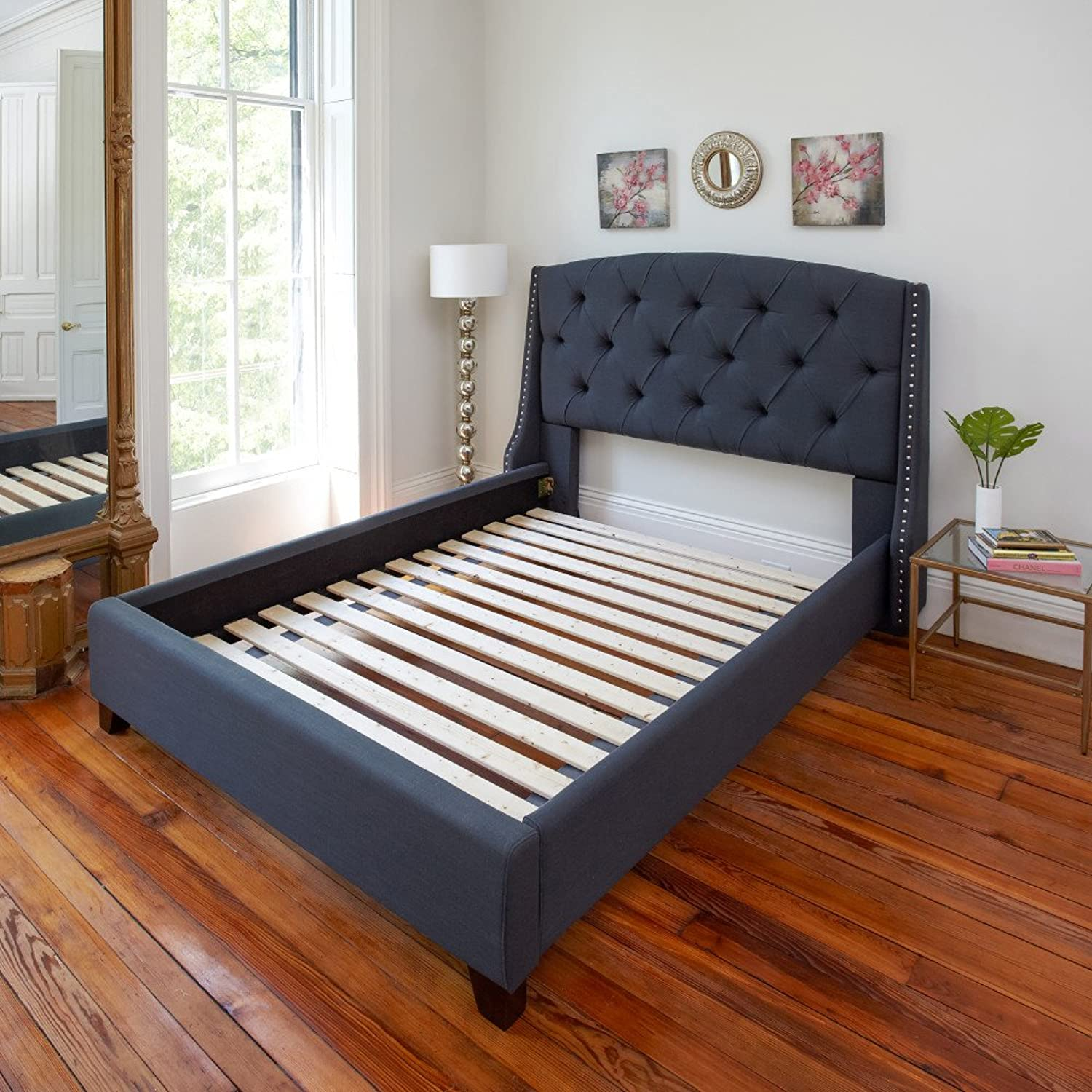 Classic Brands Heavy-Duty Solid Wood Bed Support Slats   Bunkie Board, Twin