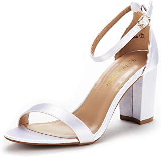 e12467abe6bc Amazon.com  White - Heeled Sandals   Sandals  Clothing