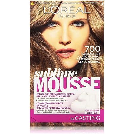LOréal Paris Sublime Mousse Coloración Permanente, Tono 700 Castaño Muy Claro Natural