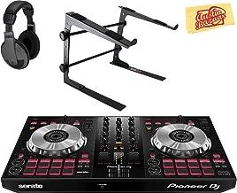 Pioneer DDJ-SB3 DJ Controller for Serato DJ Lite Bundle with Stand, Headphones, and Austin Bazaar Polishing Cloth