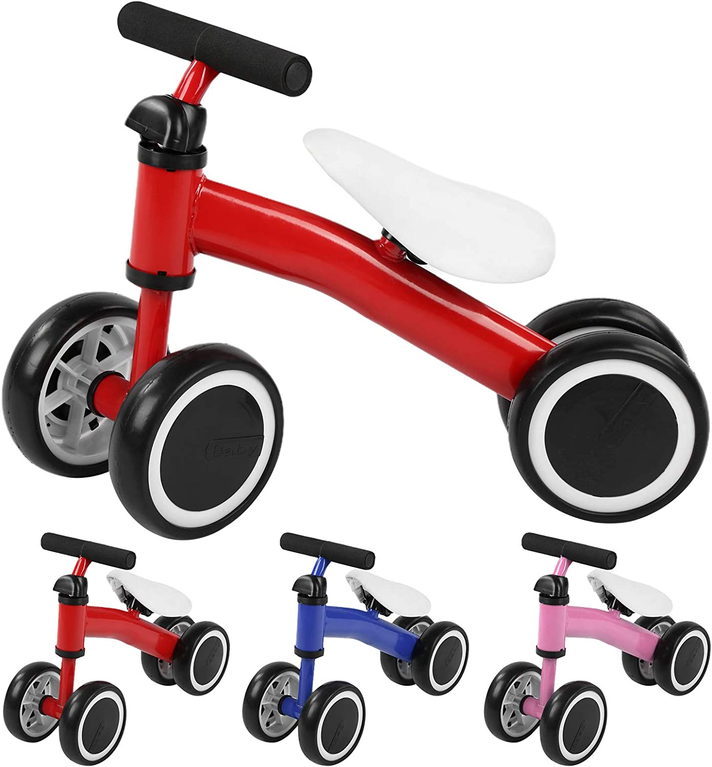 T-Day Baby Balance Scooter, Baby Infant Balance Scooter Walker Baby Toddler Aprende a Caminar Sin Pedales Juguetes para Montar(Azul)