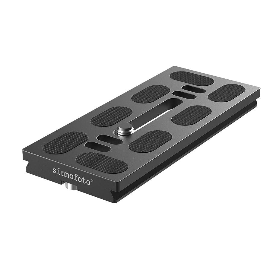 Sinnofoto QFP 100mm Aluminium Quick Release Plate Arca Swiss Plate for Sinnofoto Tripod Ball Head M1 Q08 Q02 Series (Long Lens Version) …