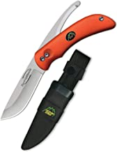 Outdoor Edge Swingblaze Double Blade Hunting Knife with Rotating Skinning & Gutting Blades, Nylon Sheath, (Blaze Orange, SZ-20NC)