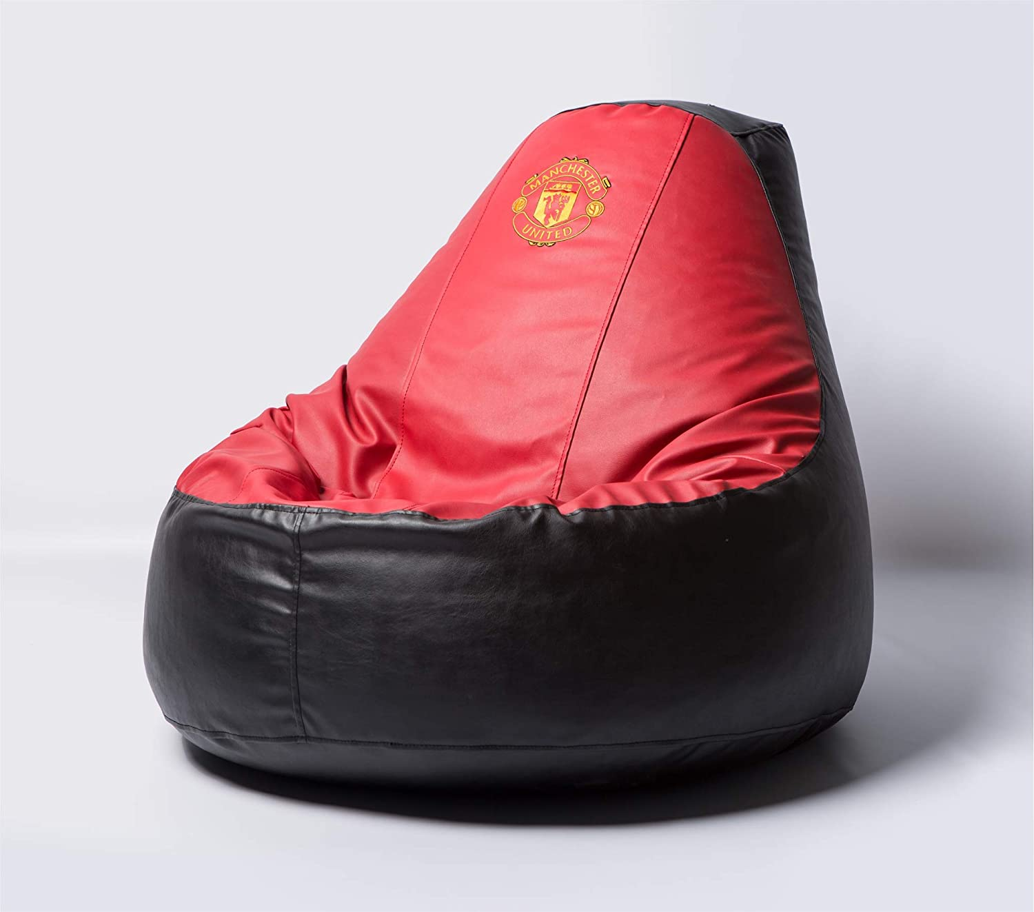 Manchester United Football Beanbag Comfortable Kids Adult Game Outdoor Indoor Lounge Chair Cover + Inner Bag (Without Beans)