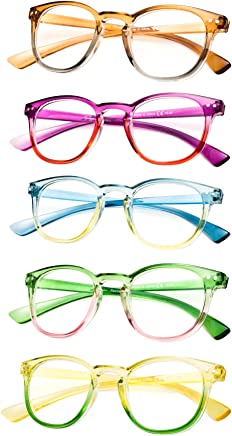 5-Pack Fashion Reading Glasses for Womens