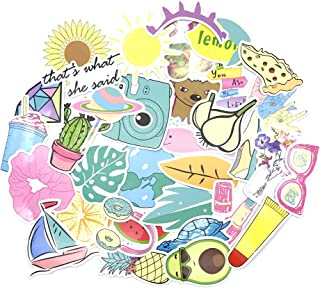 Stickers for Water Bottles | Big 35-Pack |Cute Stickers, Laptop and Water Bottle Decal Sticker Pack |Waterproof,Aesthetic,Trendy Stickers for Teens,Girls, Women
