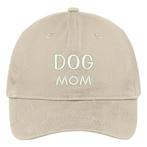 Trendy Apparel Shop Dog Mom Embroidered Low Profile Deluxe Cotton Cap Dad  Hat a1ff5166bb26