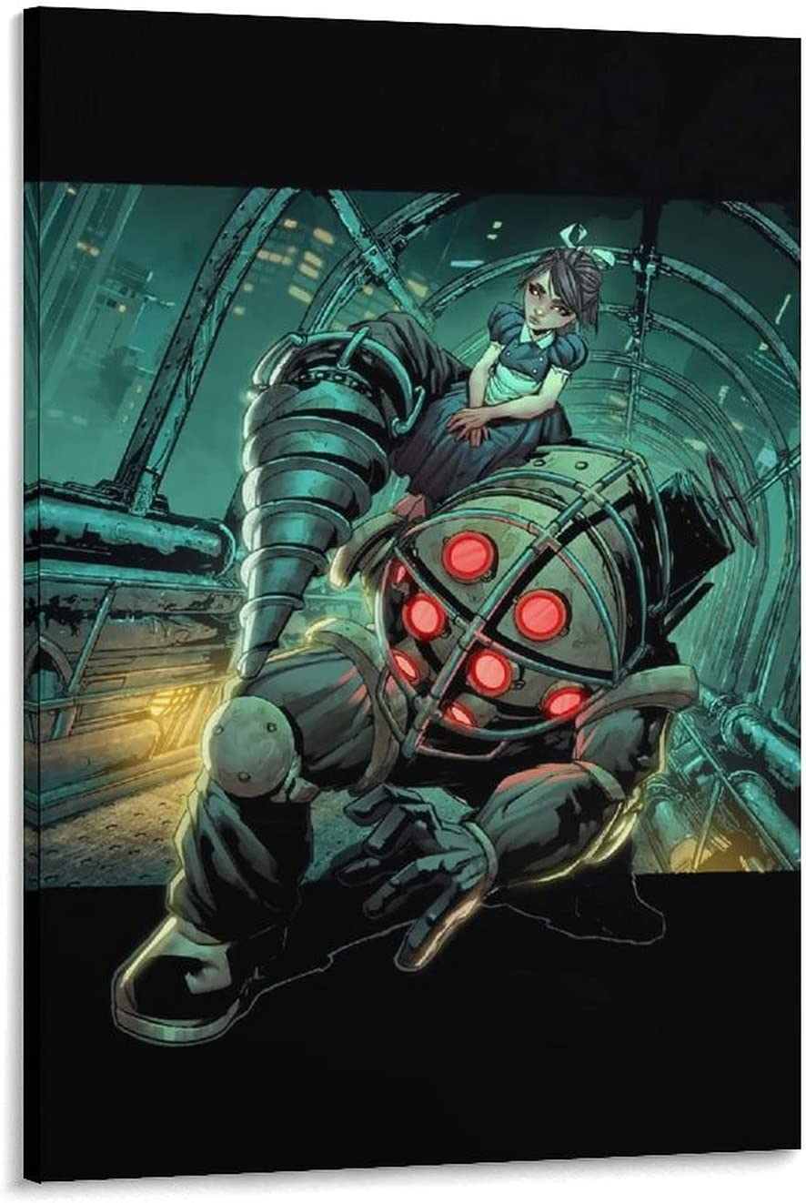ZHANGH Big Daddy Bioshock Chicago Mall mart Pictures ArtHanging Poster Decoration