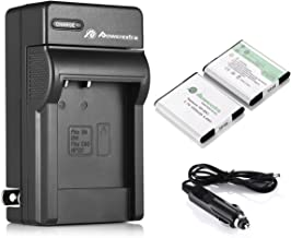 Powerextra 2 PCS NP-BN1 Battery and Charger Replacement for Sony Cyber-Shot DSC-QX10 QX30 QX100 T99 T110 TF1 TX10 TX20 TX30 TX55 TX66 TX100V TX200V W310 W320 W330 W350 W530 W515PS W570 W650 W800 W830