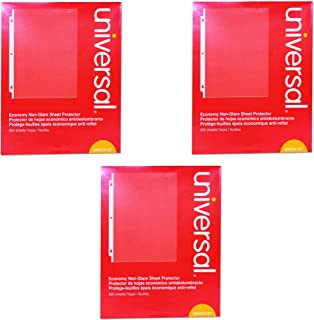 Universal Economy Sheet Protectors Economy Letter 200/Box, UNV-21127, 3 Pack