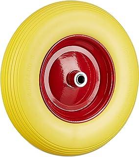 Relaxdays Kruiwagenwiel 4.80 4.00-8, massief rubberen banden en stalen velg, reservewiel lekvrij, 100 kg draagvermogen, ge...