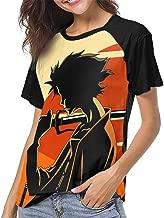Samurai Champloo Women's Raglan Short Sleeve Baseball T-Shirts Top