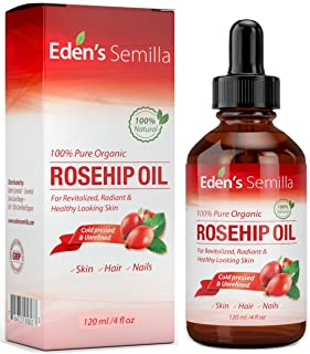 100% Pure Rosehip Oil – 4 OZ – Certified ORGANIC – Cold pressed &..
