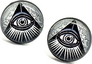 Eclectic Shop Uk Illuminati Todas Vistas Ojo Tuerca Pendientes ...