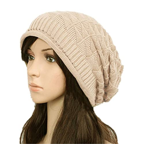 0f4a7891 Dealzip Inc Stylish Unisex Brown Woven Knit Crocheted Crochet Plicated Ears Baggy  Slouch NBA Warm Teens