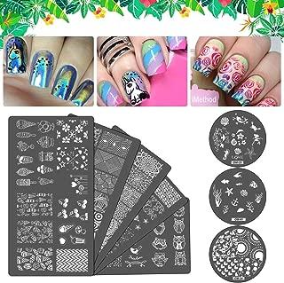 iMethod Nail Art Stamping Plates - Unique Nail Art Designs, 8 Pieces Nail Art Stamp Plates for Creative, Decoration for Nail Design DIY Salon