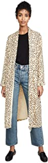 cupcakes and cashmere Women's Arianne Printed Soft Satin Duster Coat
