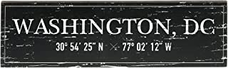 "Barnyard Designs Washington, DC City Sign Rustic Vintage Wood Wall Art Home Decor 17"" x 5"""