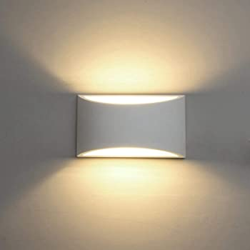 Amazon Com Modern Led Wall Sconce Lighting Fixture Lamps 7w Warm White 2700k Up And Down Indoor Plaster Wall Lamps For Living Room Bedroom Hallway Home Room Decor With G9 Bulbs Not Plug Home