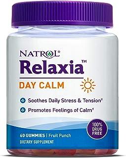Natrol Relaxia Day Calm Daily Stress Relief Gummies, Fruit Punch Flavor, 60 Gummies