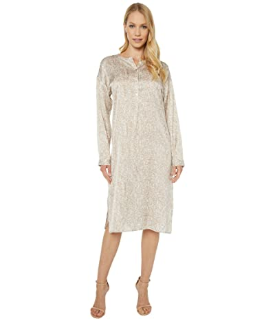 Eileen Fisher Round Neck Dress (Bramble) Women