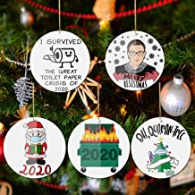 Christmas Ornaments 2020, 5PCS Christmas Decorations Christmas Tree Decorating Creative Gift Pendant for Home Indoor Outdo...